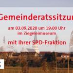 Gemeinderatssitzung am 03.09.2020