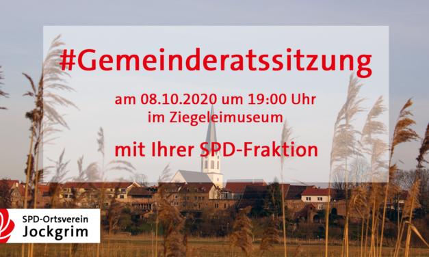 Gemeinderatssitzung am 08.10.2020 um 19:00 Uhr